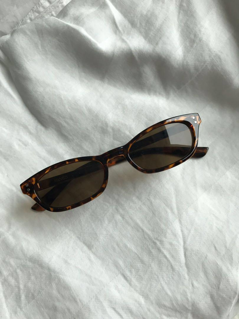 MANGO CAT EYE TORTOISE SHELL SUNGLASSES