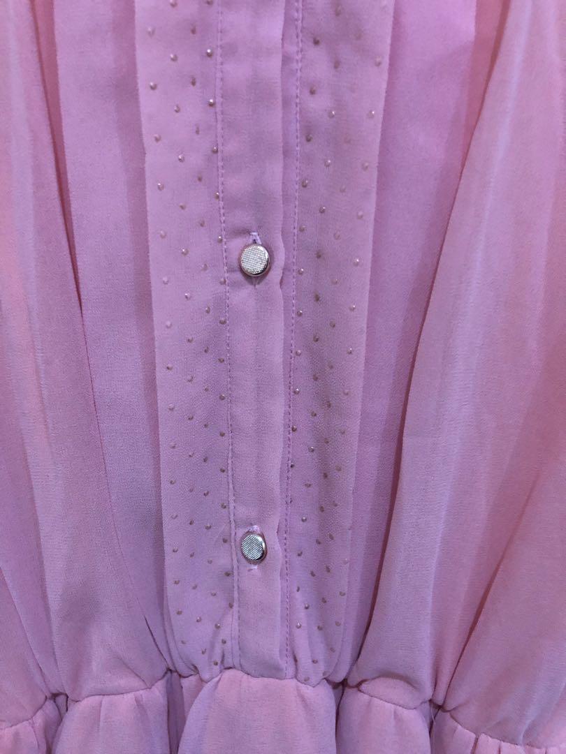Mini dress soft pink
