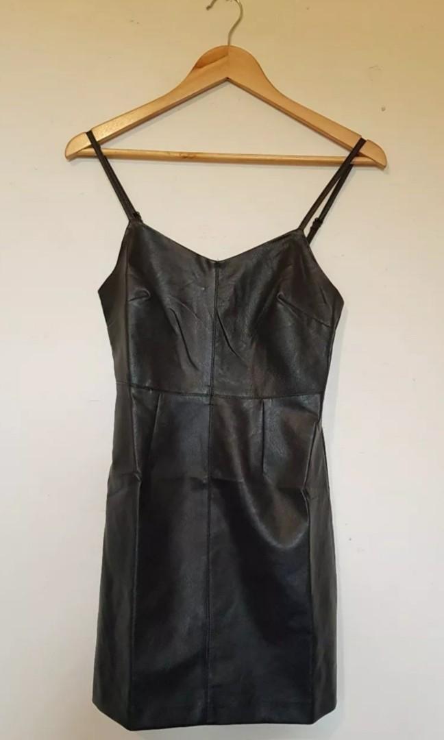 """MINKPINK """"Frankie"""" black PU faux leather mini dress. Size XS BNWT"""