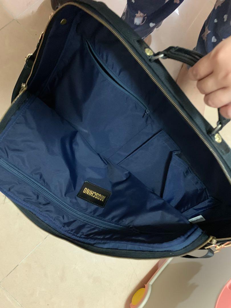 Moschino vintage bag 超大旅行袋 行李袋