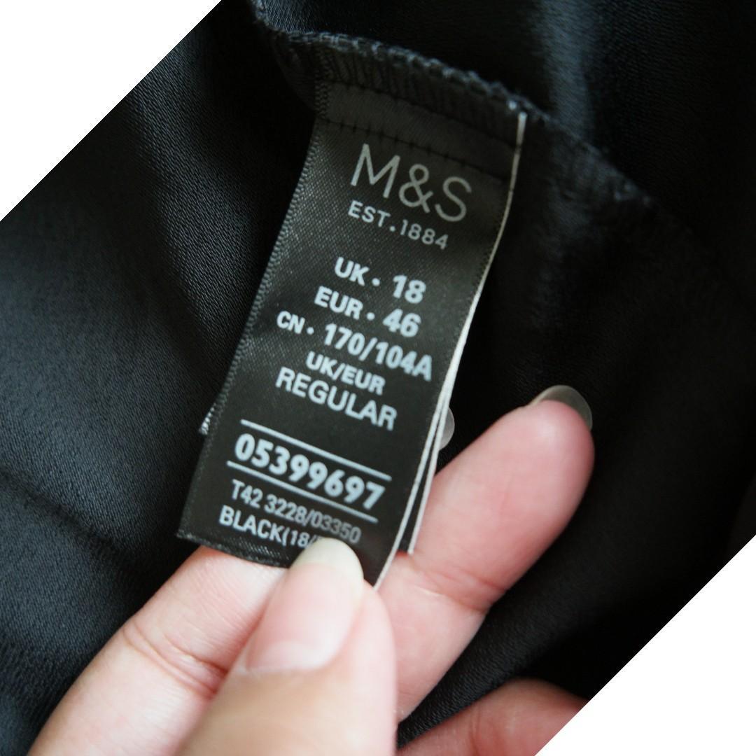 M&S Dress Hitam Size 18