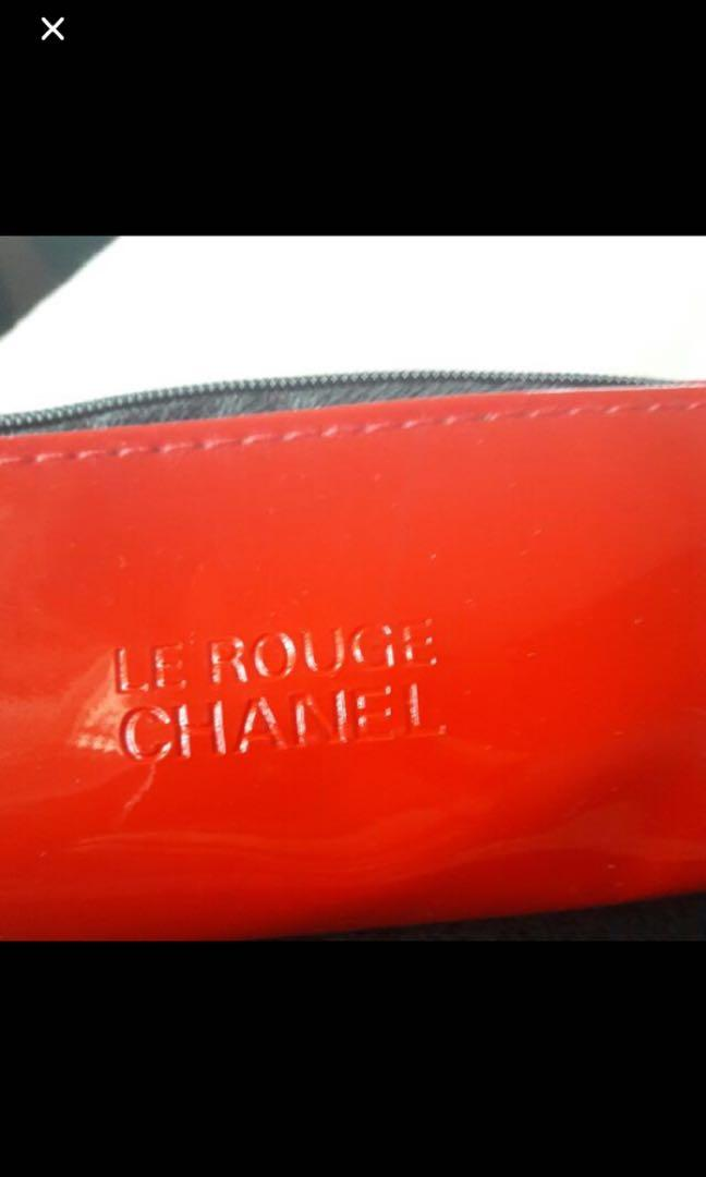 New Chanel Le Rouge Chanel Red Lipstick VIP gift pencil case makeup case