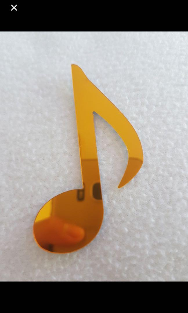New Golden Acrylic crochet quaver note accessory music lovers violin piano cello