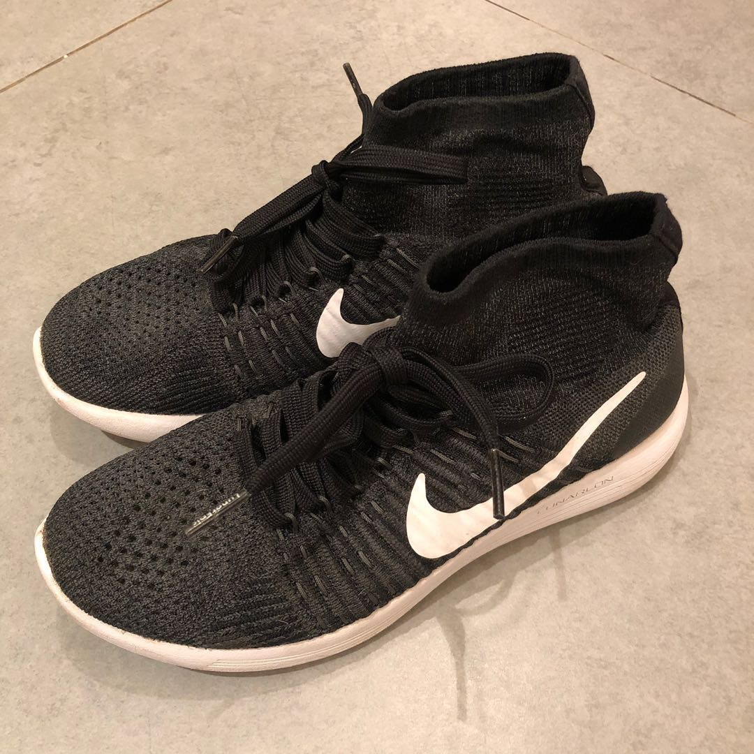 separation shoes 42038 1ac74 Nike lunarepic lunar epic high black women runners sports shoes Flyknit