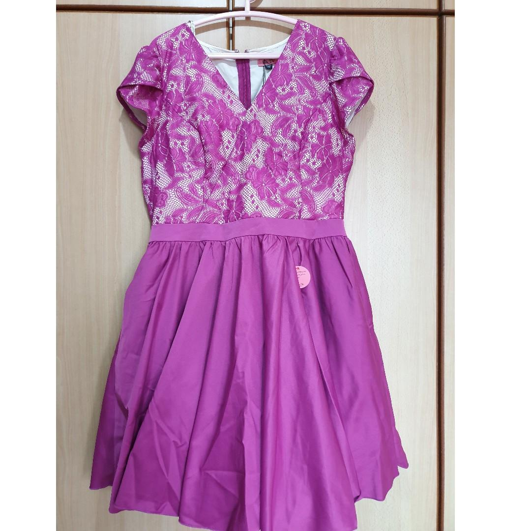 Purple Prom Dress with Cancan