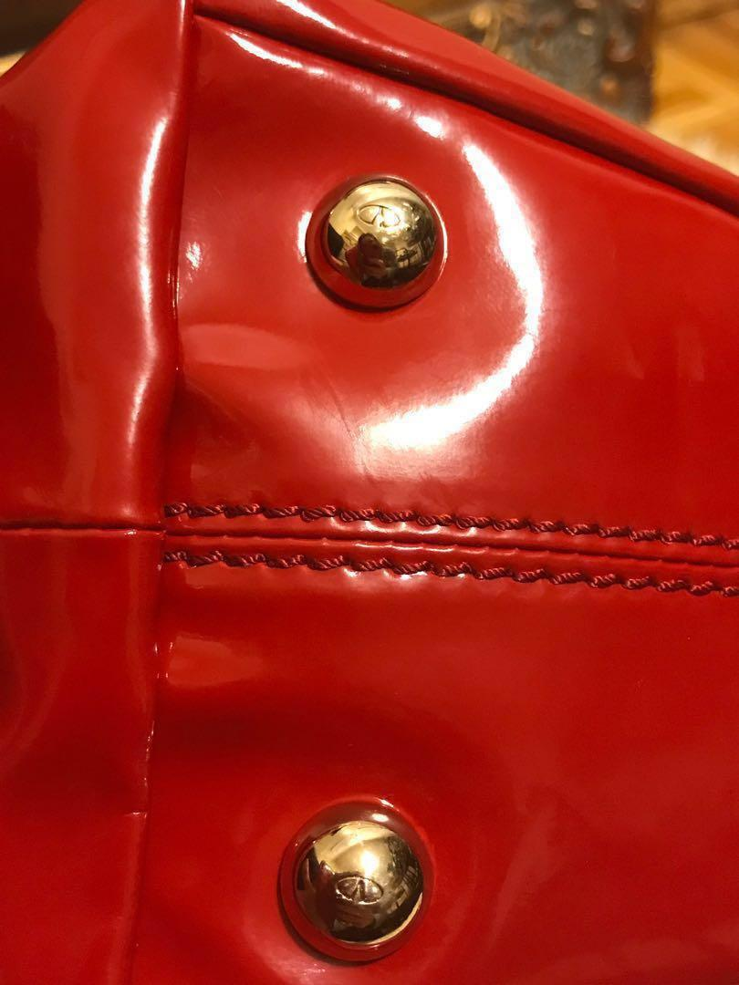 Reduced! Authentic Valentino Red patent leather handbag retails $1900