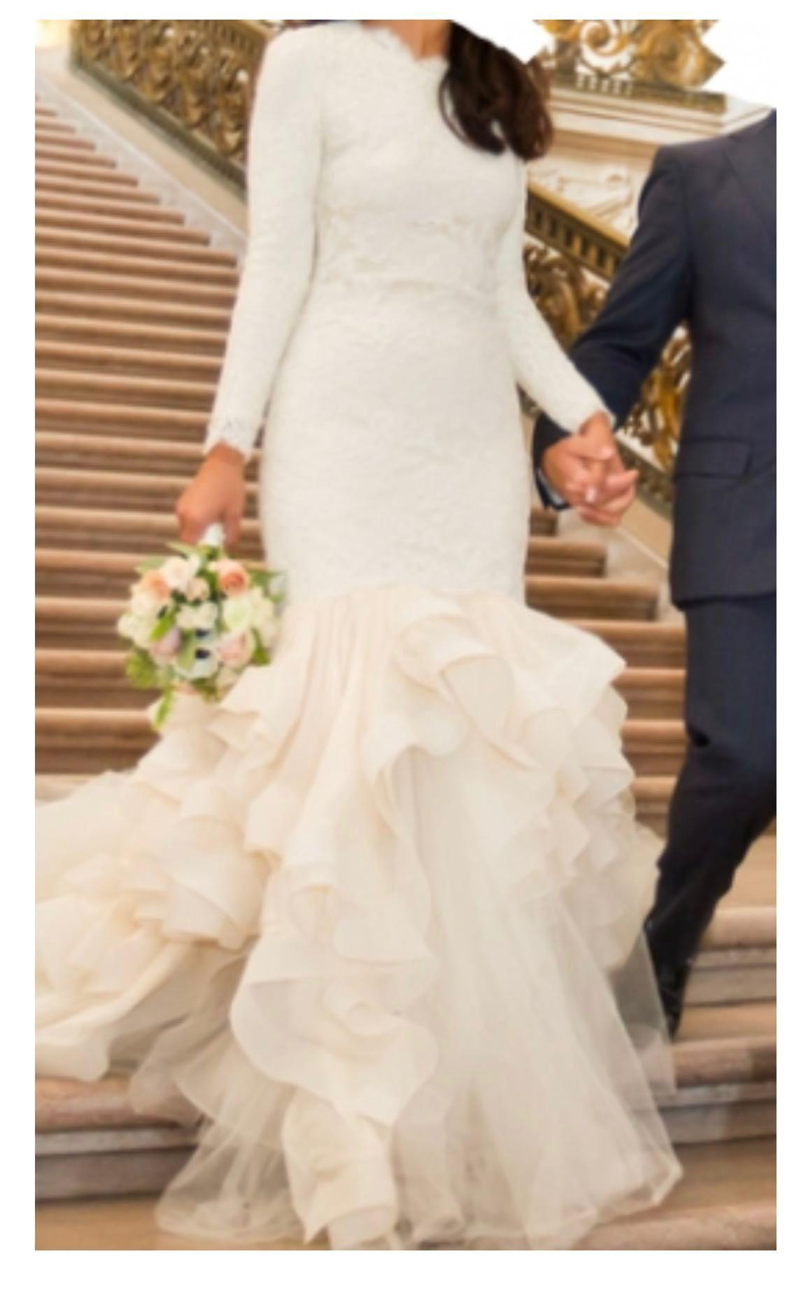 Reem Acra Custom Modest Mermaid Wedding Dress Lifestyle Services