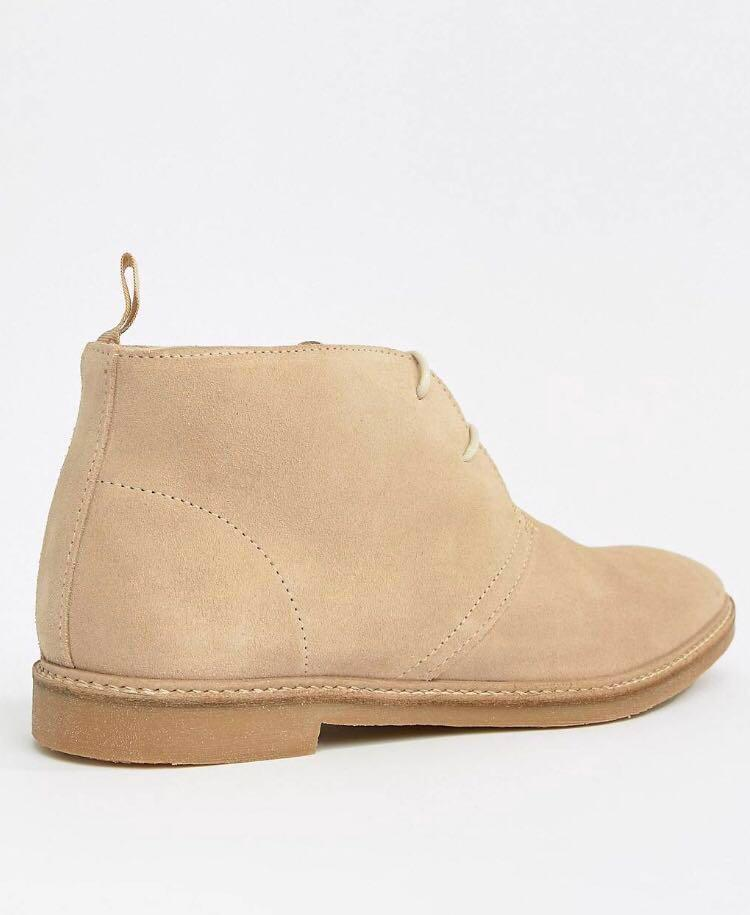 River Island BRAND NEW chukka boots in stone size 9 US