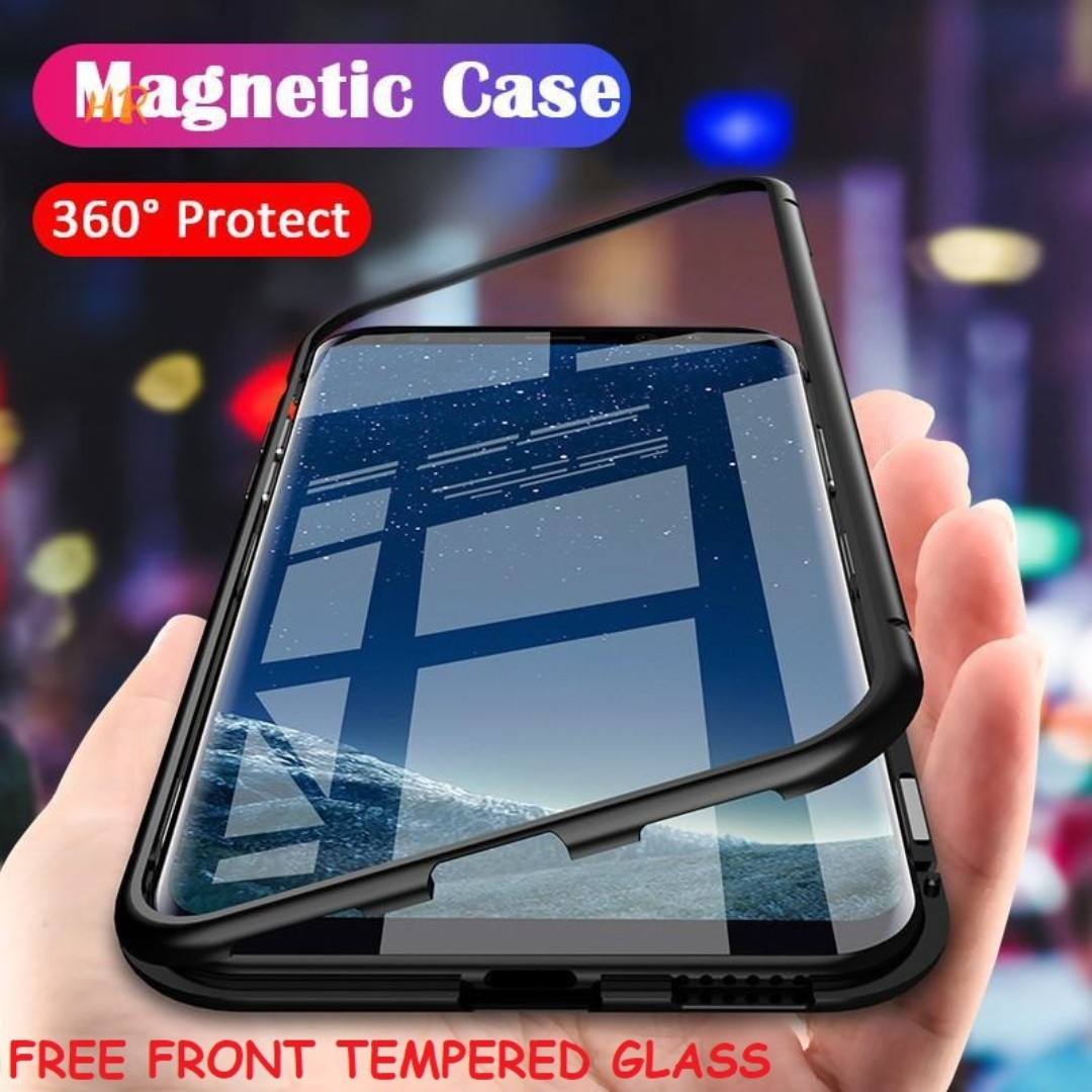 best cheap f3217 57f11 (FOC Front Tempered Glass) Samsung S9/S9+ Magnetic Case
