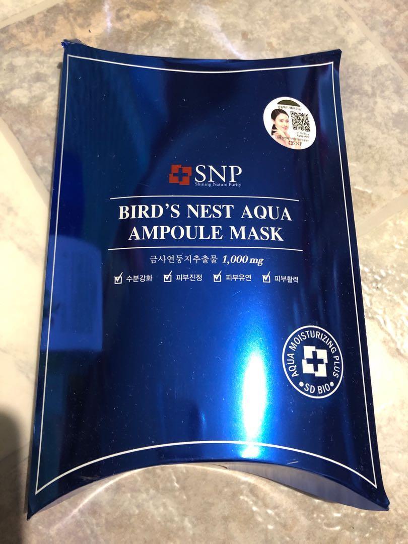 SNP Korean birds nest aqua ampoule mask