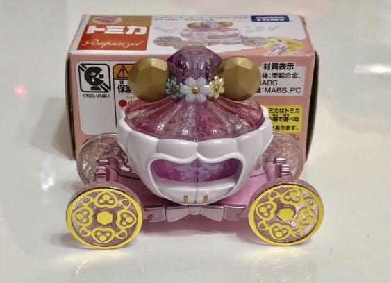 TAKARA TOMY Tomica Disney Motors Rapunzel 長髮公主車 粉紅色 南瓜車 (全新有盒)