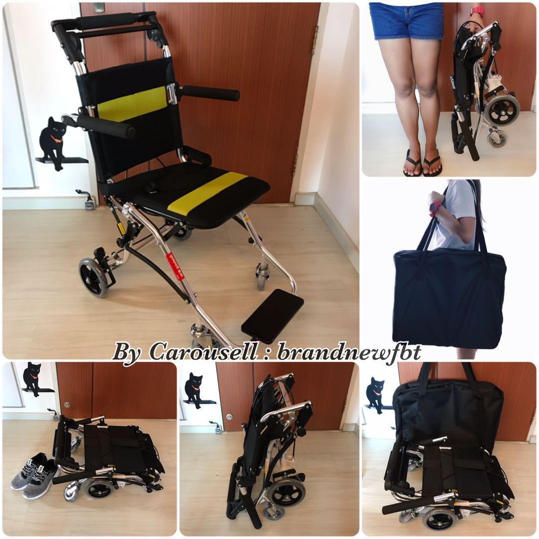 Wheelchair Premium lightweight Aluminium foldable travel wheelchair
