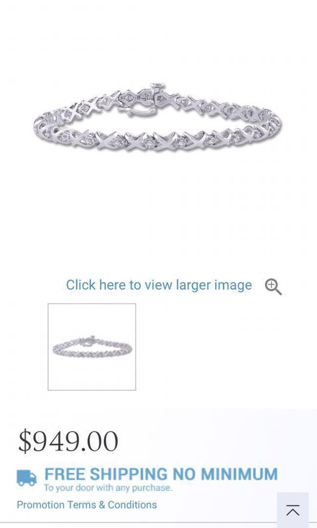 White gold 10k tennis bracelet retails over $1200 CAD