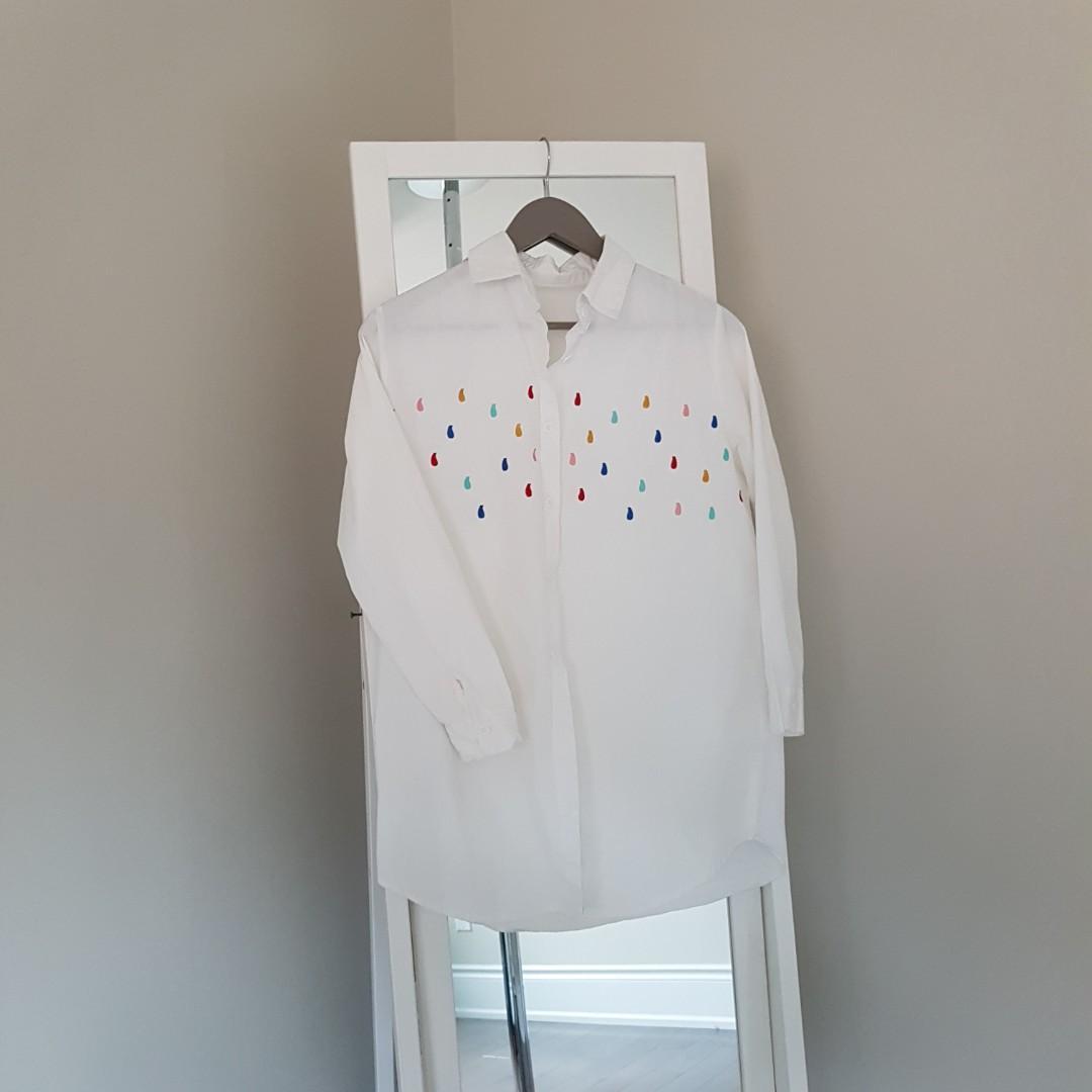 white raindrop blouse