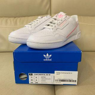 Adidas Originals Continental 80 white/pink women's US7.5/UK6