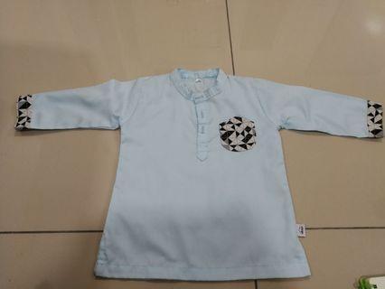 Baju Melayu / Geometric Kurta in Frosty by Altayr (RAYA SALEEEE🌙️🌙️🌙️)