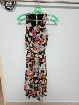 beautifly  print hi low dress