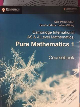 Cambridge A-Levels Coursebook Pure Mathematics 1