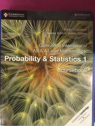 Cambridge A-Levels Probability & Statistics 1 Coursebook
