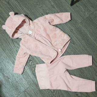 6-12 months Hoodie Zip Jacket and pant