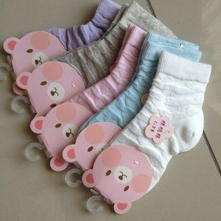 Korean girl lacey socks set 5pcs