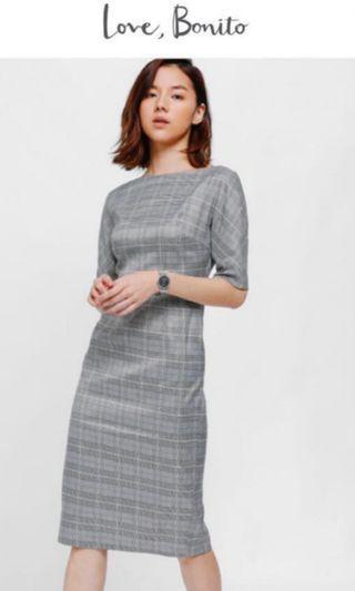 Love Bonito Prischa Tweed Tailored Midi Dress