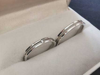 🚚 Platinum Wedding Band - Love & Co - Couple Ring