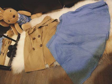 🚚 Forever 21藍短裙&卡其短裙 180/件 兩件300