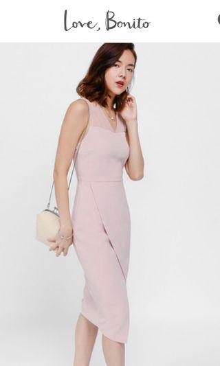 Love Bonito Medra Mesh Panel Crossover Dress