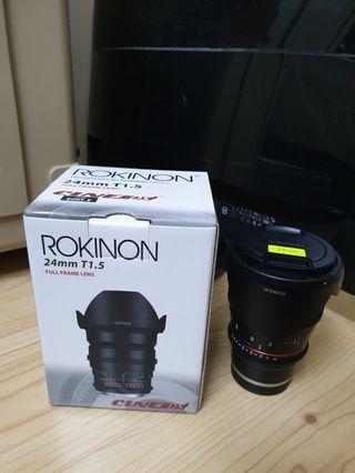 Samyang/Rokinon 24mm T1.5 Cine DS Lens for Sony Full Frame