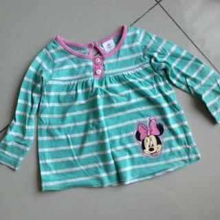 Minnie mouse top blouse long sleeves
