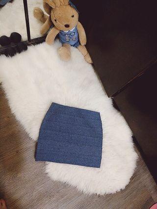 🚚 東區購入辣妹繃帶包臀質感藍窄裙