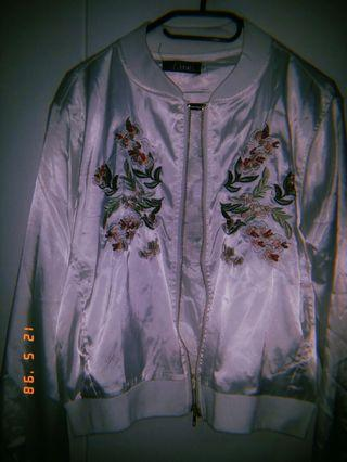 🚚 White Bomber Jacket