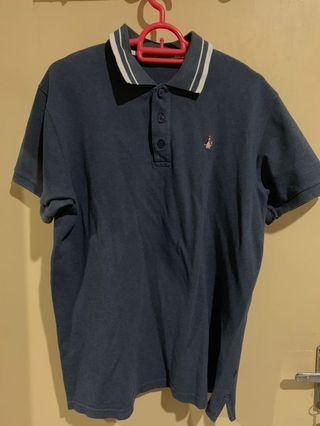 Polo Shirt Hush Puppies ASLI Biru Navy Branded Bermerek