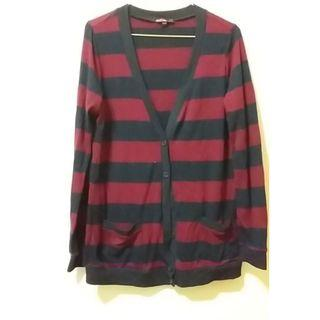 (僅下水)forever21 薄條紋針織外套 尺寸M 購自日本