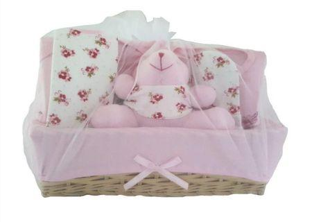 Elegant Kids 2000 7 Pieces Infant / Kids / Children / Newborn Baby Girl Gift Hamper Basket Set