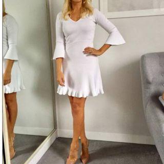 Massimo Duti Knit White Dress