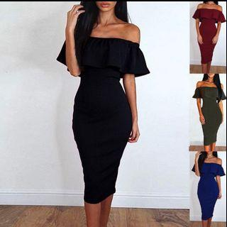 🚚 < A85 > off shoulder evening dress