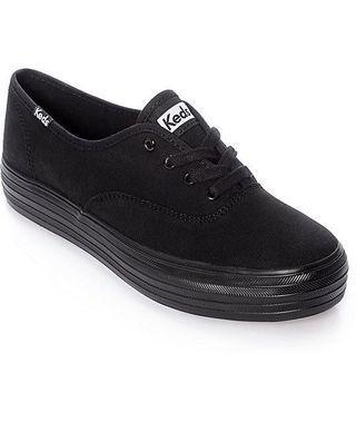90%new keds black platform sneaker