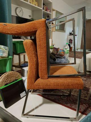 Cellini chairs in orange
