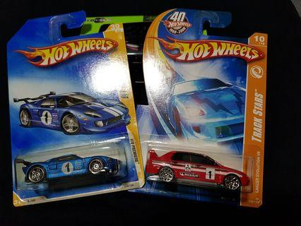 Hotwheels Mitsubishi Lancer and Ford GT LM (Lot)