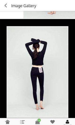 Korean, Chuu -5kg jeans blk