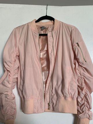 Pink Fashion Nova bomber jacket