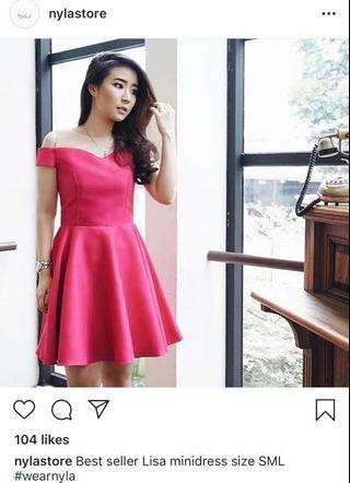 Pink Dress Nyla Murah
