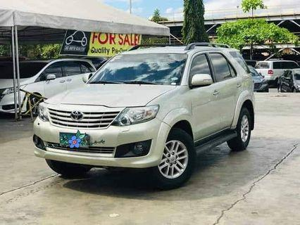 Bestseller 2013 Toyota Fortuner 4x2 G AT gas only P15T at 30% DP