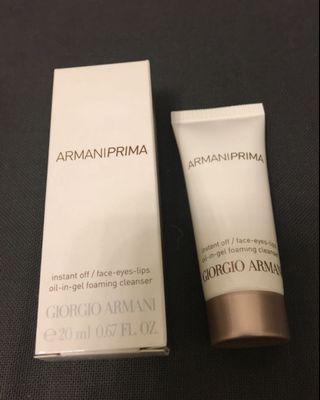 Armani Prima 卸妝洗面 20ml 全新 oil-in-gel foaming cleanser 旅行裝