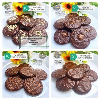 Brownies Chocolate Cookies. Freshly Baked. Halal.