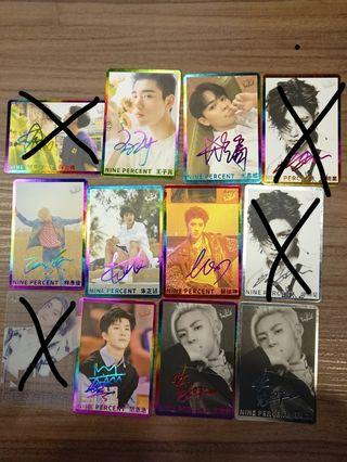 NINE PERCENT yes card 第52期