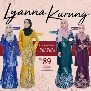 BAJU KURUNG LYANNA PROMO RAYA READY STOK !!!