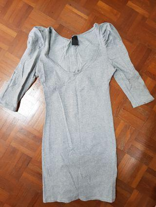 Zara Grey Bodycon Dress